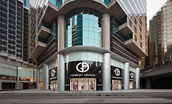 Nuova boutique Armani a Hong Kong