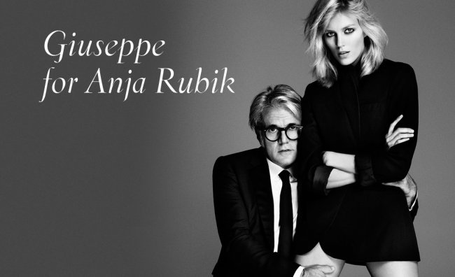 Giuseppe Zanotti presenta Anja Rubik