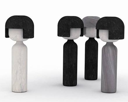 Bambole Kokeshi di Gumdesign