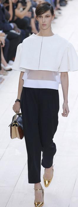 Top, pantaloni e borsa Chloé