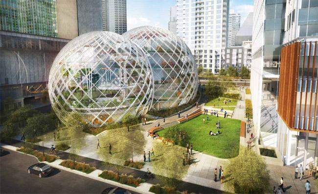 Lavorare in una biosfera: i nuovi uffici di Amazon