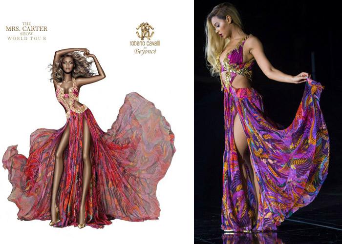 Roberto Cavalli e le gambe di Beyoncé