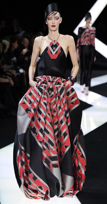 Abito foulard Armani Haute Couture