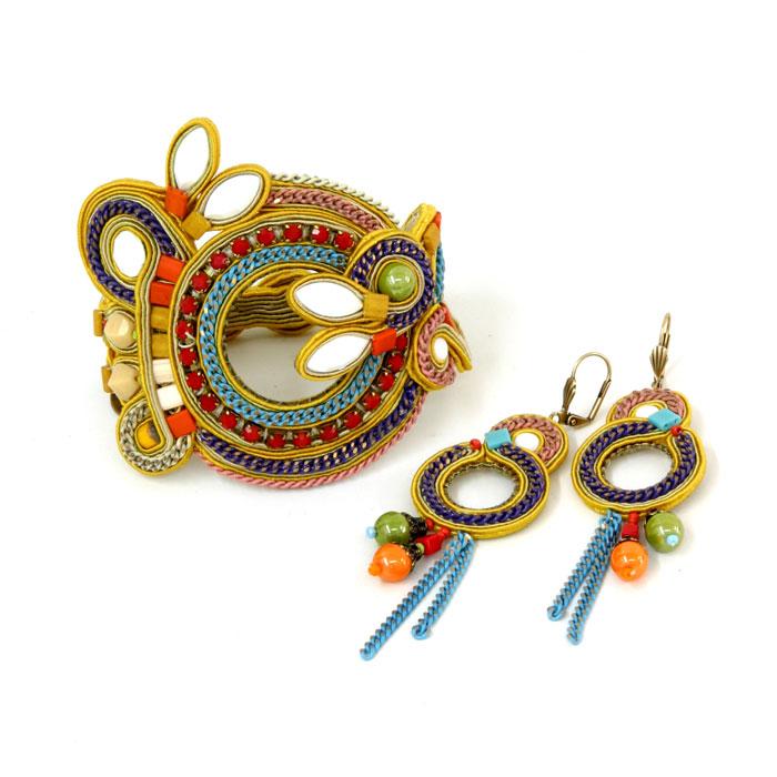 Bracciale e orecchini Dori Csengeri