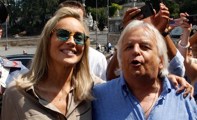Sharon, Pupi e Riccardo: il trio a Roma
