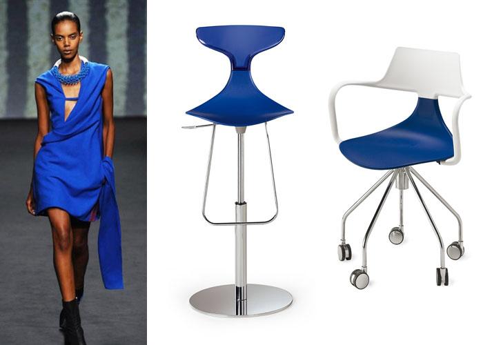 moda e design uniti dal colore