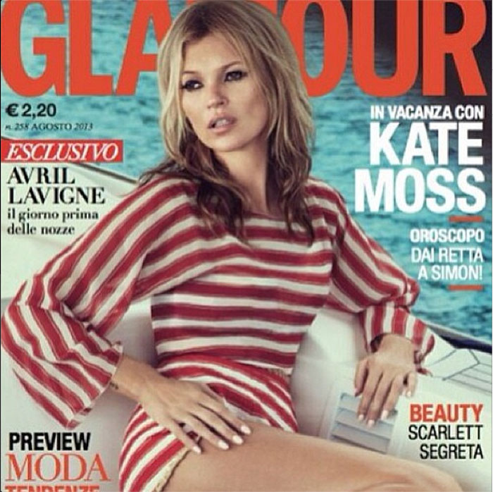 Kate Moss su Glamour