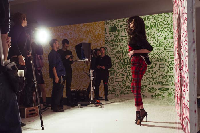 Backstage campagna Benetton