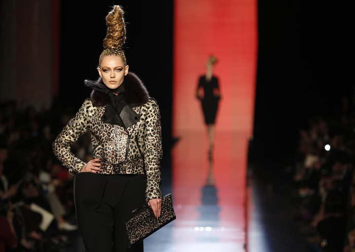 Donne leopardo per Jean Paul Gaultier