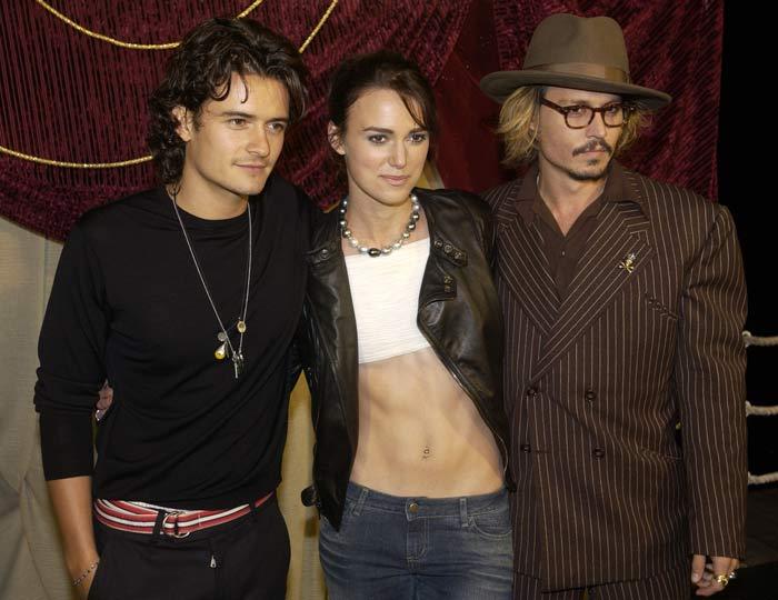Johnny Depp, Orlando Bloom e Keira Knightley