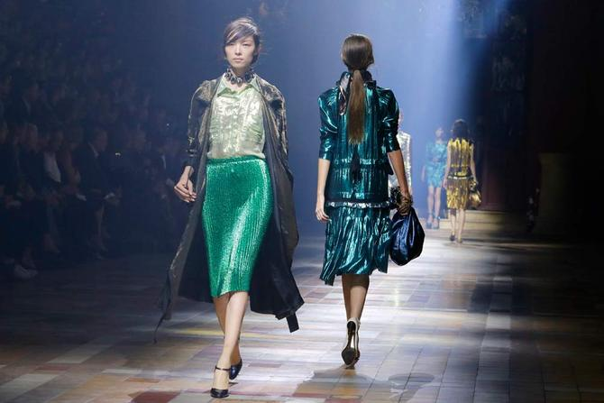 Gonna, trench e top Lanvin