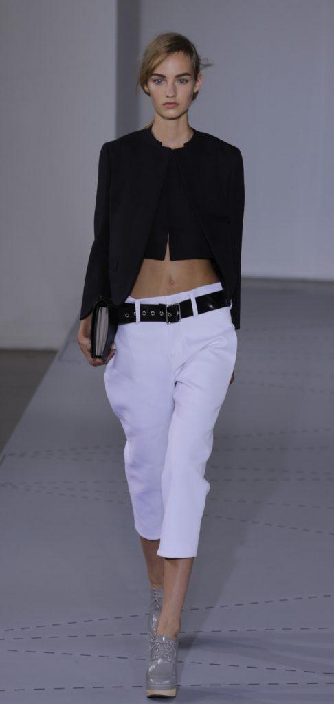 Pantaloni, top e giacca Jil Sander