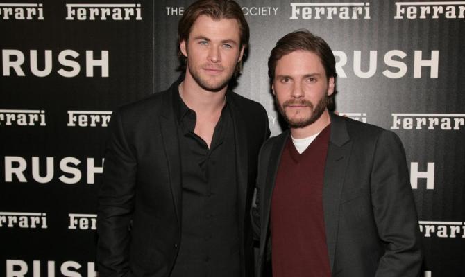 Daniel Bruhl e Chris Hemsworth