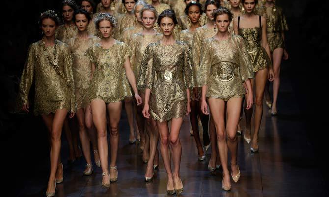 Il barocco dorato di Dolce & Gabbana