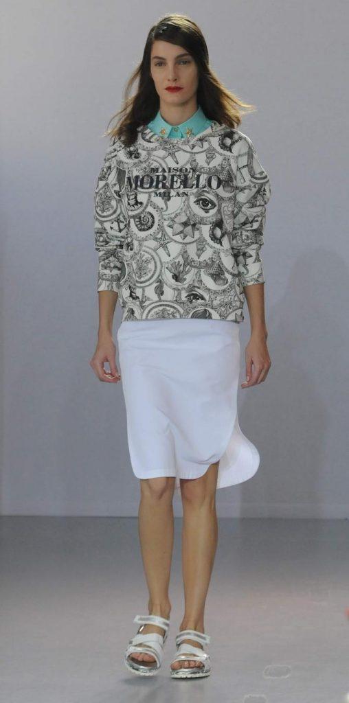 Gonna, felpa e camicia Frankie Morello