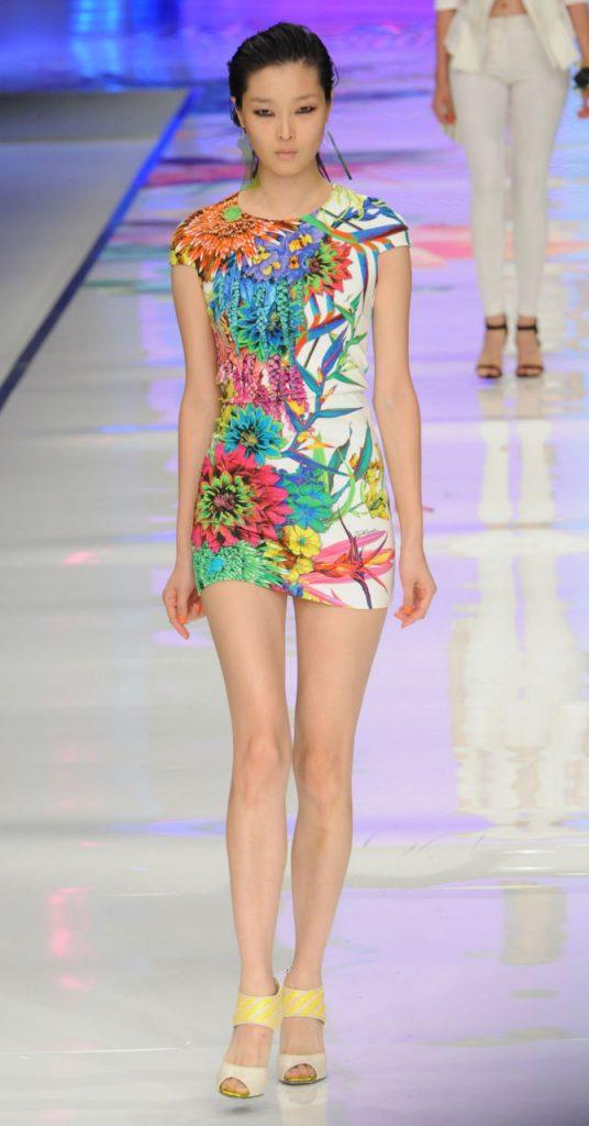 Mini abito floreale Just Cavalli