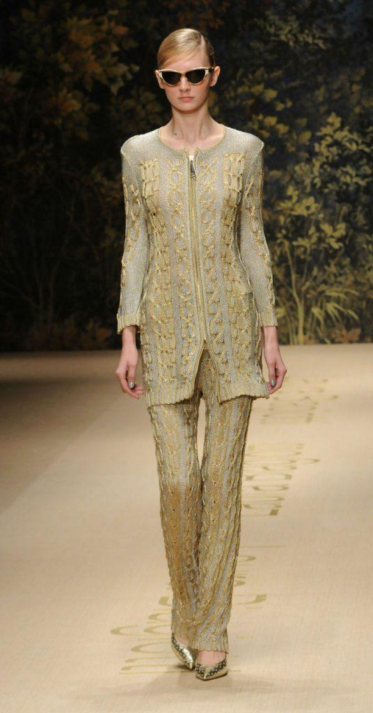 Completo oro Laura Biagiotti