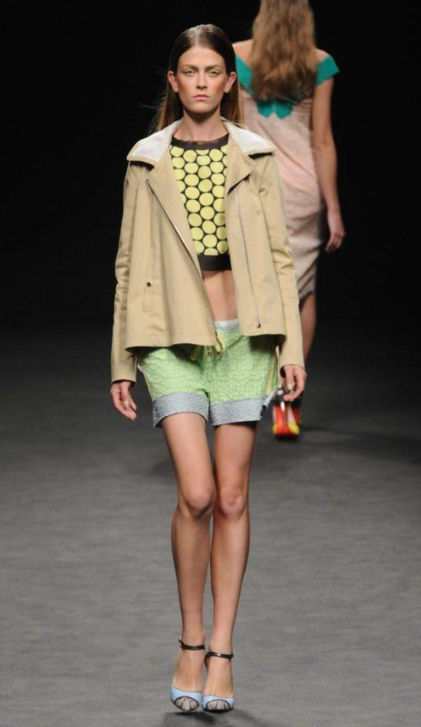 Shorts, top e giacca Massimo Rebecchi