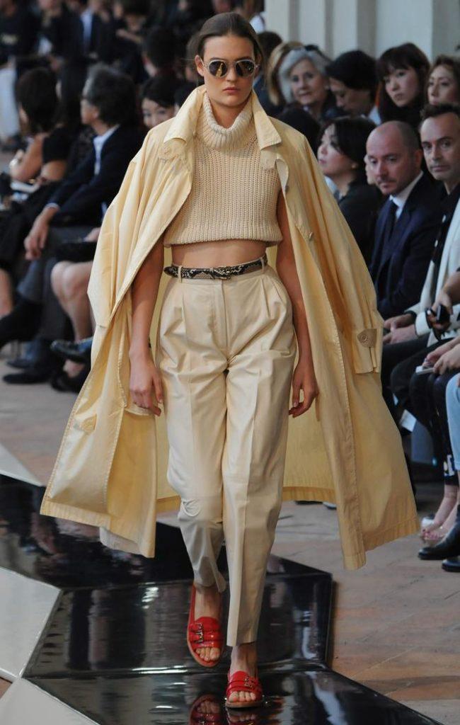 Pantaloni, maglia e cappotto Trussardi