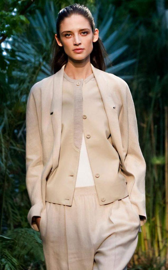 Pantaloni, top e cardigan Hermès