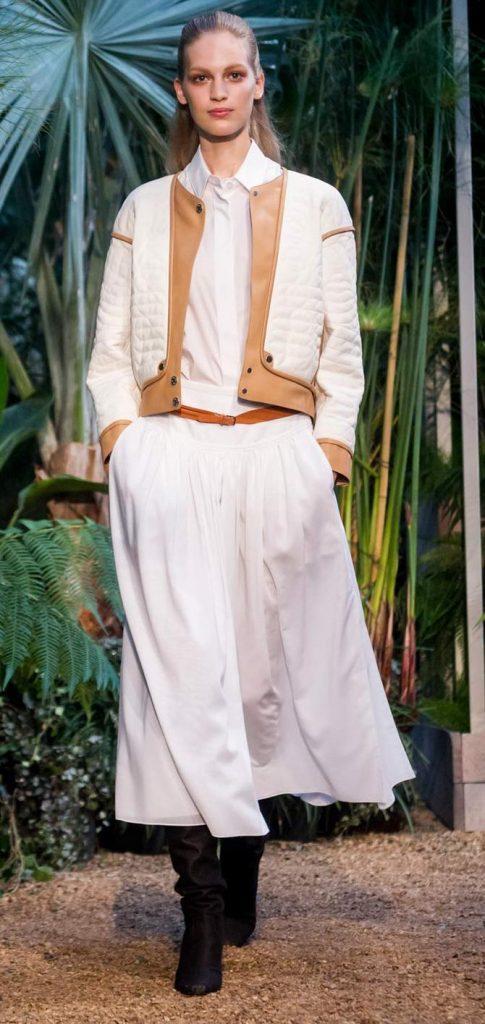 Gonna, camicia e giacca Hermès