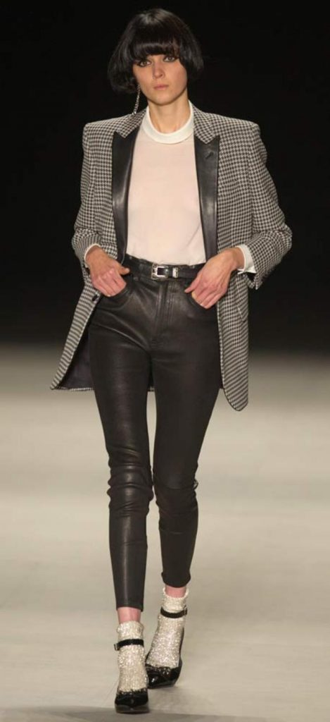 Pantaloni, top e giacca Saint Laurent