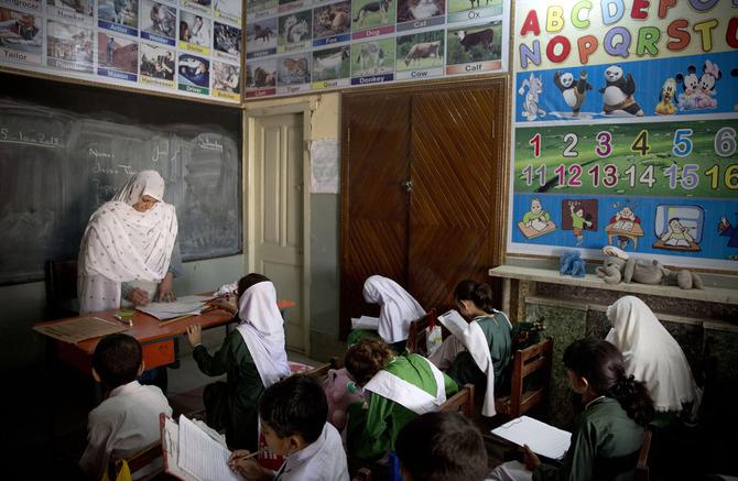 Scuola femminile in Pakistan