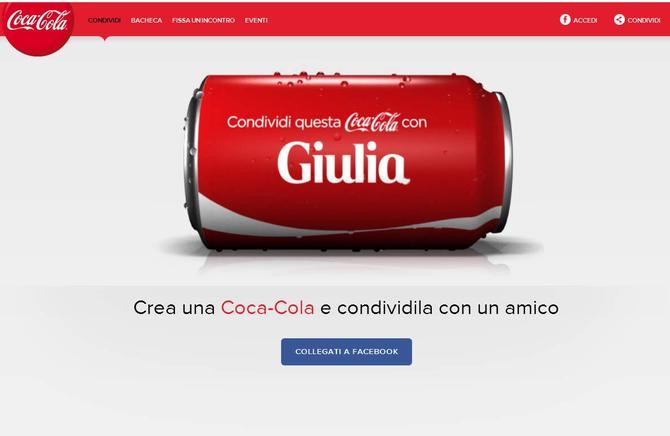 Coca Cola personalizzata