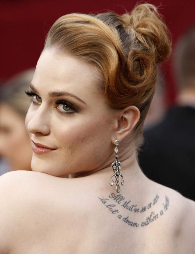 Tatuaggio Evan Rachel Wood