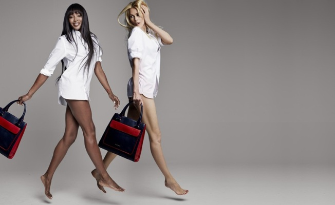 Naomi Campbell e Claudia Schiffer per Tommy Hilfiger