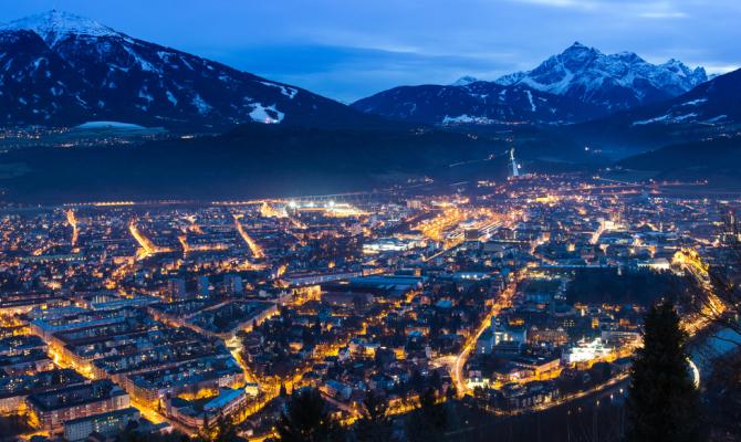 Innsbruck di notte