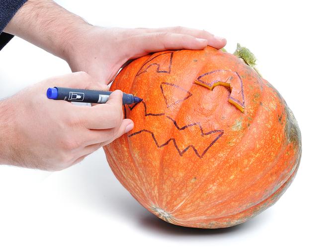 Disegnare la zucca di Halloween
