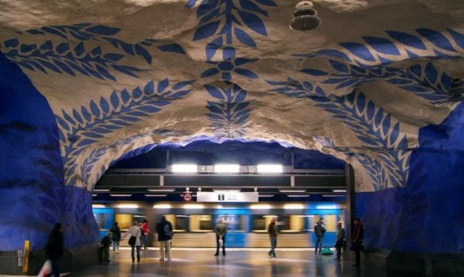 Stoccolma: una galleria d'arte sotterranea