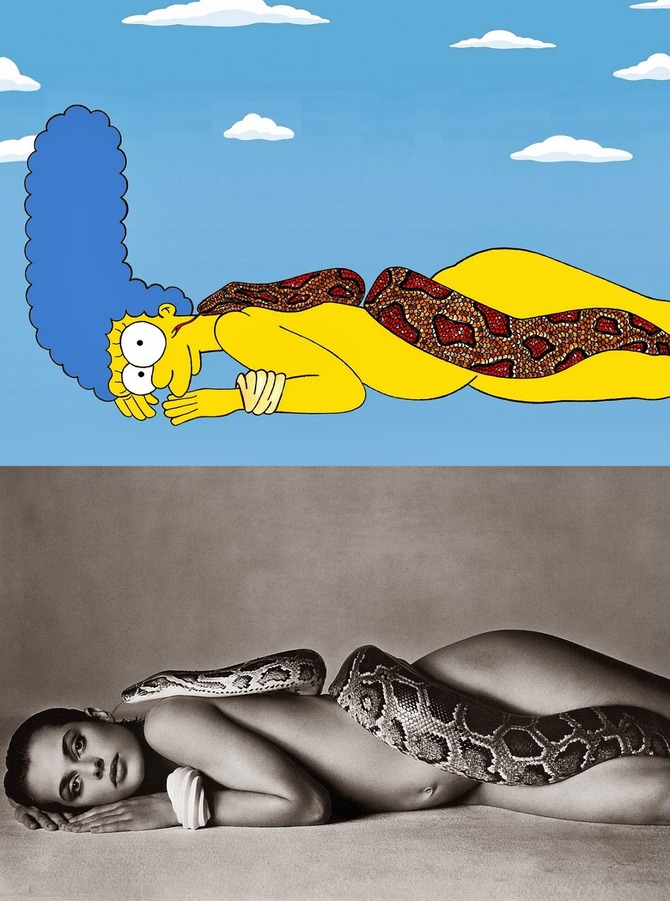 Marge Simpson come Nastassja Kinski
