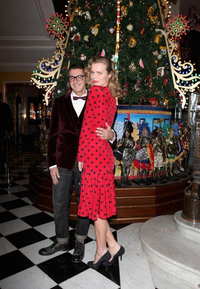 Eva Herzigova e Stefano Gabbana