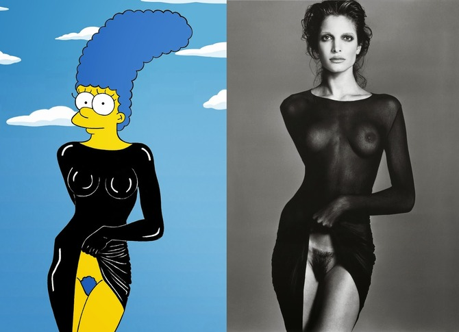 Marge Simpson come Stephanie Seymour