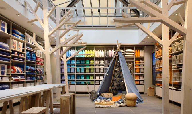 Bassetti, nuovo flag ship store ispirato alla natura