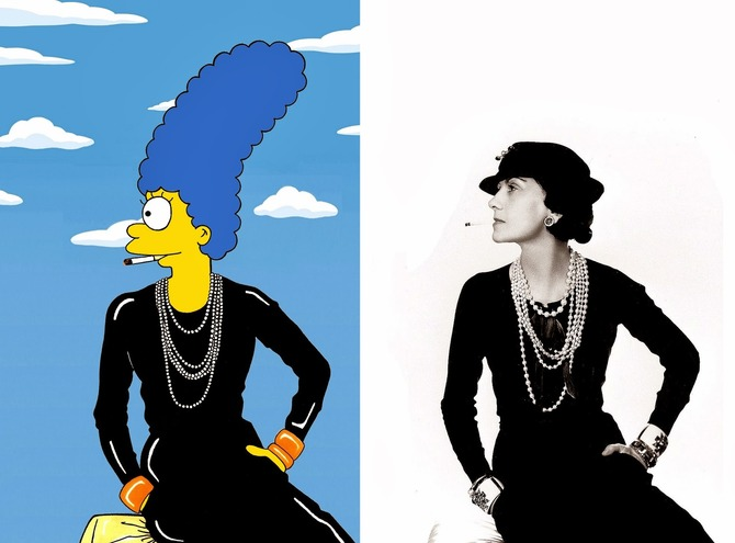 Marge Simpson in Chanel