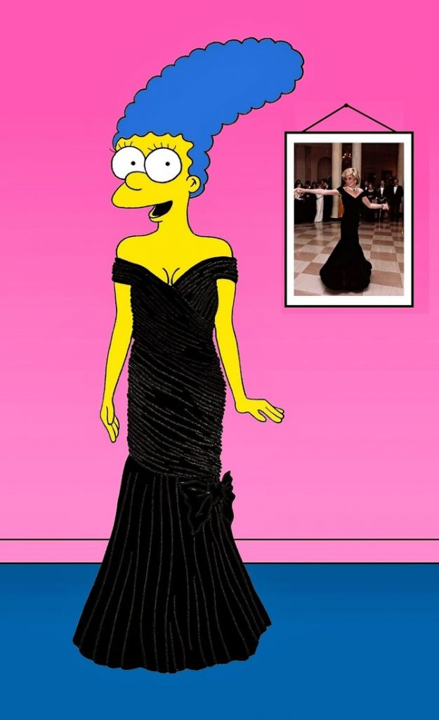 Marge Simpson come Diana