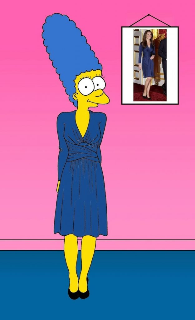 Marge Simpson come Kate Middleton