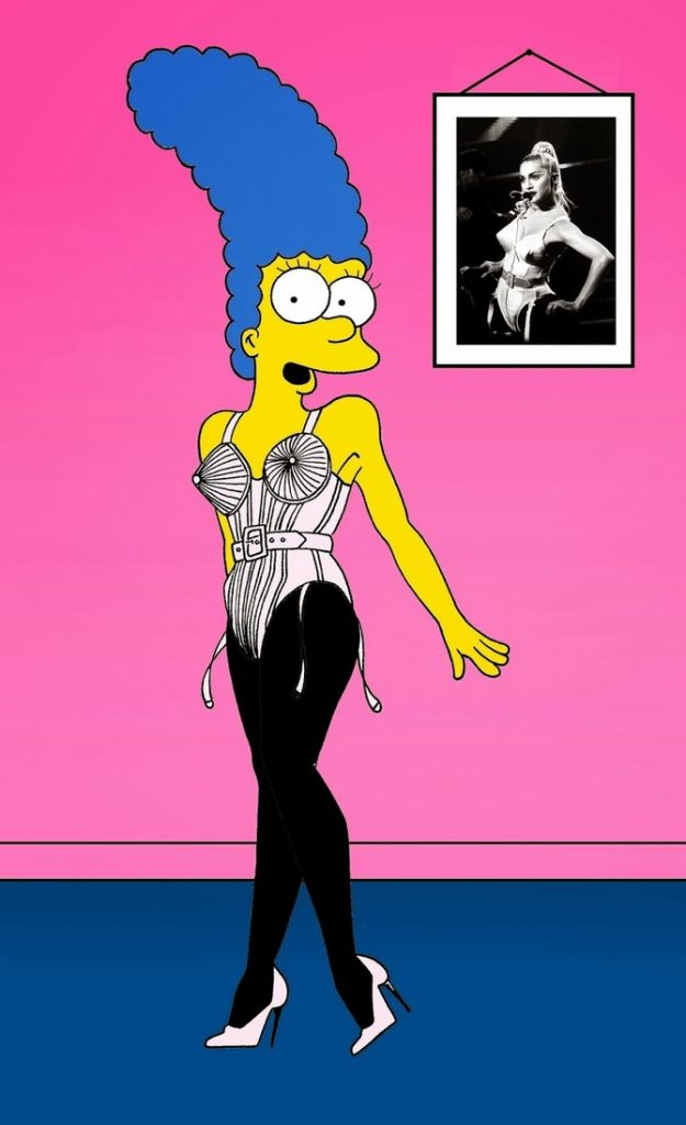 Marge Simpson come Madonna