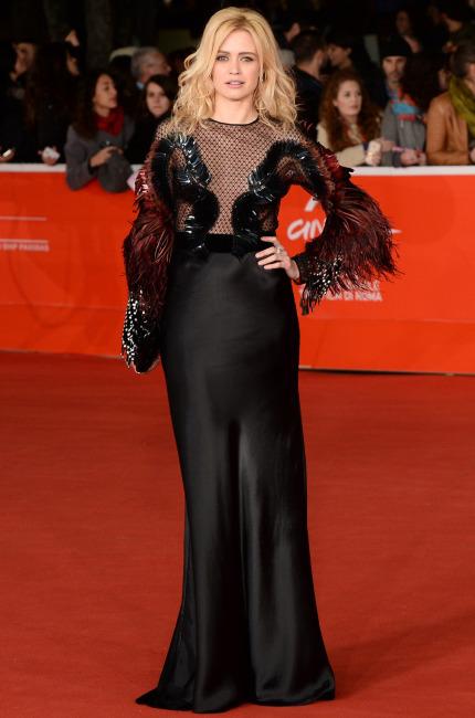 Nathalie Rapti Gomez in Gucci