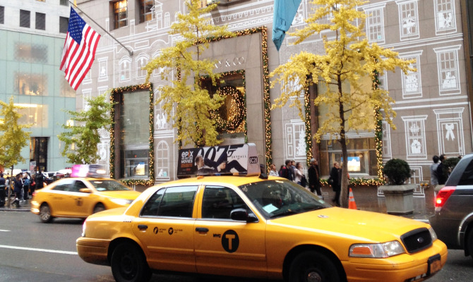 Tiffany sulla Fifth Avenue