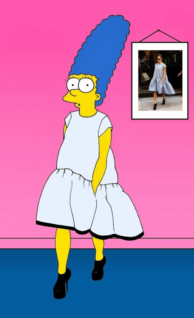 Marge Simpson come Victoria Beckham