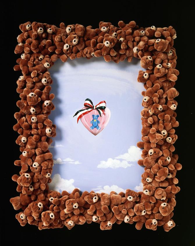Orsacchiotto azzurro e cuore rosa - Franco Moschino