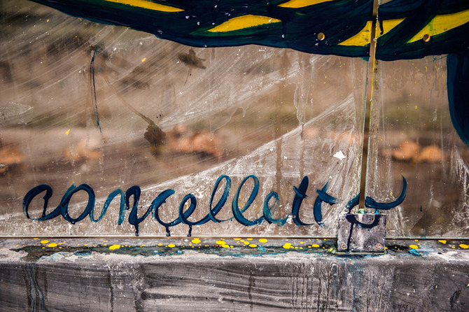 Inattesa - art at the bus stop by Cancelletto