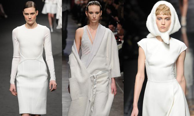 Look all-white da regine delle nevi