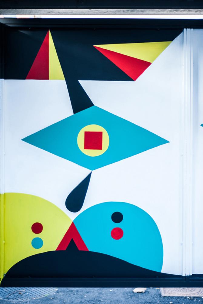 Inattesa - art at the bus stop by Camilla Falsini