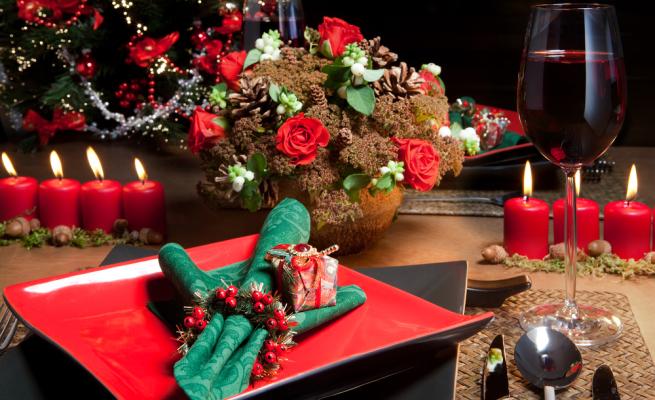 Addobbi natalizi, tavola, natale