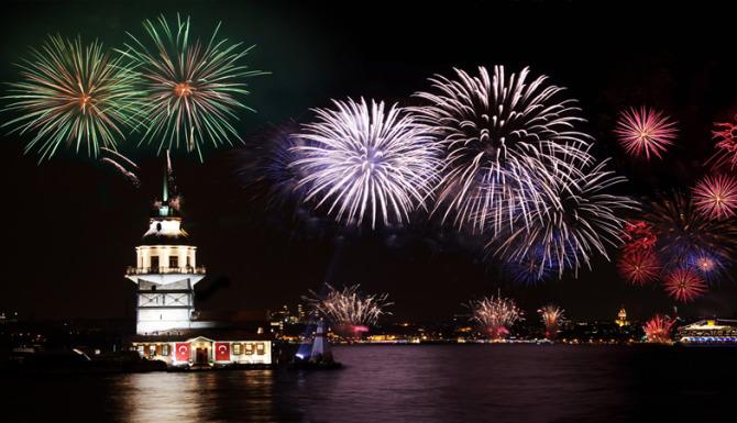 idee capodanno, Capodanno a Istanbul, capodanno in turchia, fuochi d'artificio a istanbul,